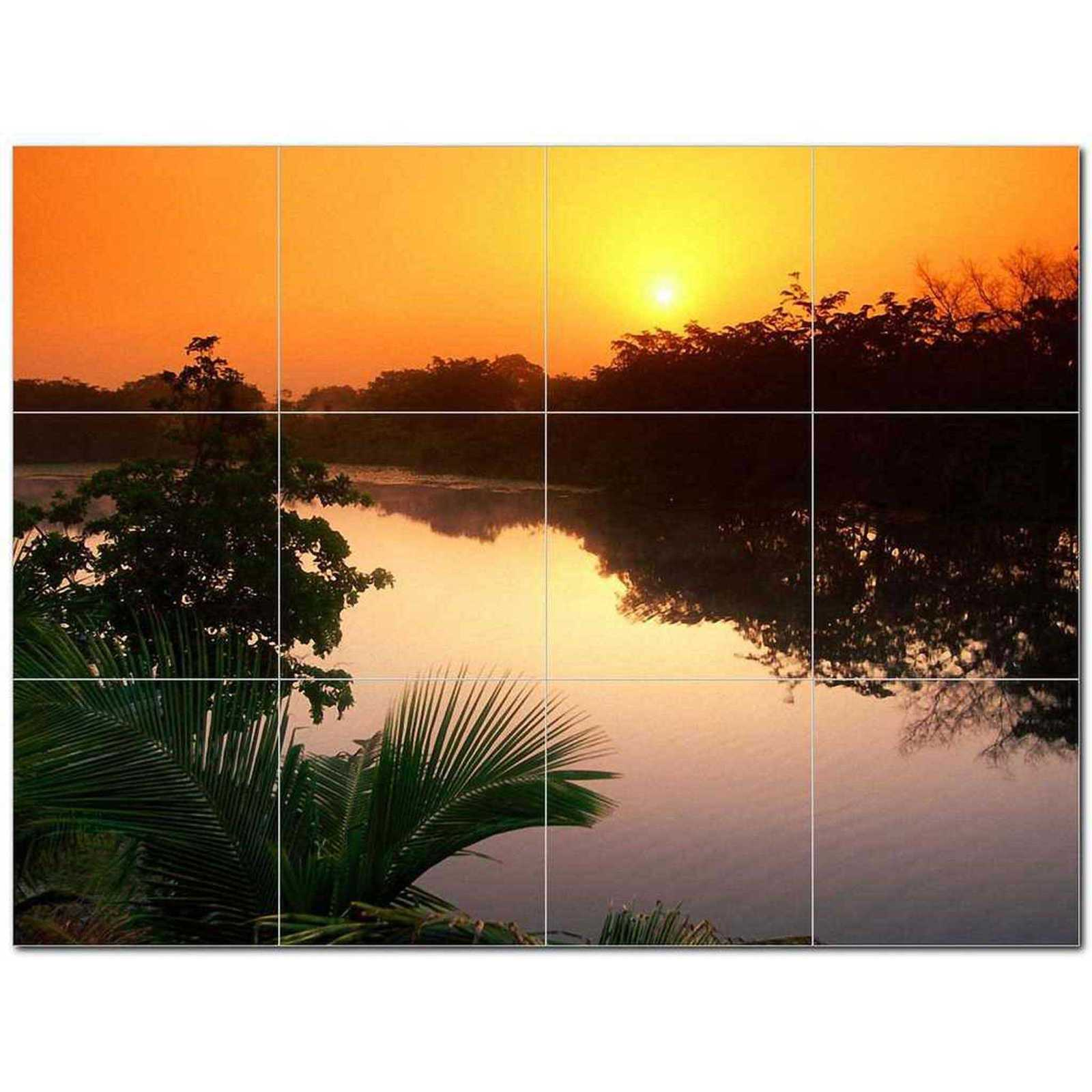 Primary image for Sunset Photo Ceramic Tile Mural Kitchen Backsplash Bathroom Shower BAZ405923