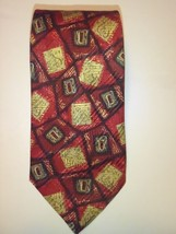 Best of Class ROBERT TALBOTT Mens Tie Silk Red Gold - $32.47