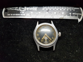 Wwii Era Jewel 17 Jewel Black Dial Vintage 1940's Watch For Restoration Or Part - $120.94