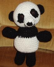Cuddly Lucky panda bear crocheted - $20.78