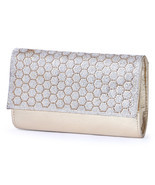 Designer Handbags for Women Gold Diamante Beads Clutch Purse - $43.99 CAD