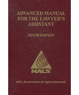 Advanced Manual for the Lawyer's Assistant [Hardcover] - $59.35
