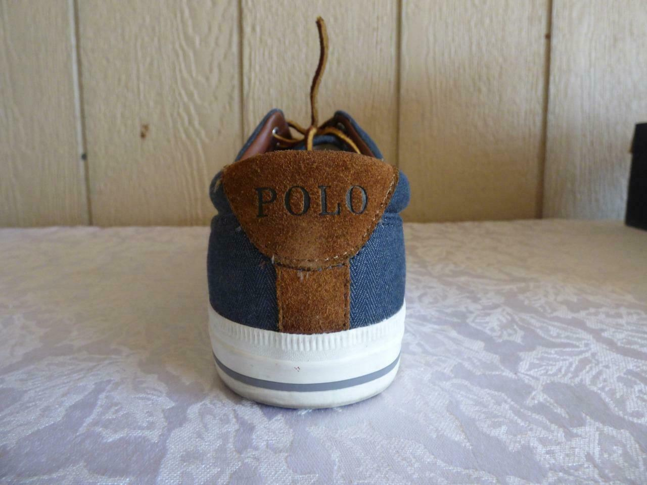 Polo Ralph Lauren Vaughn Lace Sneakers, Denim, Herringbone Chambray, US 10.5 D
