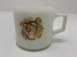 Vintage Fire King Tony Tiger D Handle Mug Milk Glass Esso Exxon Promo - $17.77