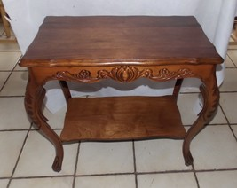 Cherry Carved Side Table / Entry Table - $299.00