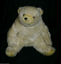 "12"" VINTAGE 1980 ENESCO POLAR WHITE TEDDY BEAR STUFFED ANIMAL PLUSH TOY ... - $27.12"
