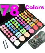 78 Color Eye Shadow Eyeshadow Make up Kit +Travel Blush - $8.99