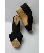 Lucky Brand Shoes Sandals Wedge Heels Canvas Crisscross Black Size US 8 ... - $34.60