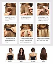 Hetto Tape on Real Hair Extensions #27 Blonde Tape in Hair Seamless Extensions 1 image 7