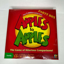 Apples To Apples Party Box Board Game Mattel Family Night, Brand New SEALED - $15.99
