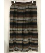 Vtg Jaeger Women 10 MEDIUM Skirt Wool Alpaca Woven Fall Stripe Long - $29.69