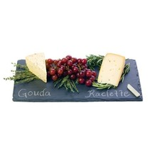 Small Cheese Board, 2 Chalk Cutting Serving Cheese Slate Board Rectangular - $42.49