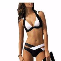 Stylish Patchwork Cut Out Women Swimwear - $21.98