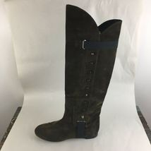 Vicini Tapeet Studded Knee Boots Brown Suede Italy 37 image 3