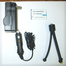 Accessory KIT Battery + Charger + Tripod for Samsung HMX-E10, HMX-E10BP - $14.35