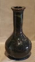 Presenting 1 Vintage(90's)Handmade Black/Green Glazed Ceramic Vase - $35.00