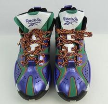 Mint 2013 Reebok Kamikaze Basketball Shoes Boys Size 6 Purple Green Silver - $46.74