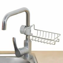 Stainless Steel Faucet Storage Rack Adjustable Sink Rag Sponge Drain Rack - $20.34