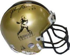 Johnny Lattner signed Gold Heisman Authentic Mini Helmet '53 (Notre Dame Fightin - $67.95