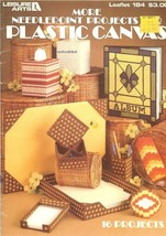 More Needlepoint Projects For Plastic Canvas 16 Projects Leisure Arts #184 - $4.47