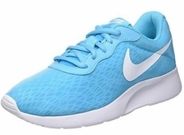 Women's Shoes NIKE TANJUN BR Sneaker Lightweight Light Blue White - $71.10
