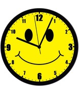"Smiley Face, EXCLUSIVE 8"" Homemade Clock, w/ Battery, FREE SHIPPING - $23.97"