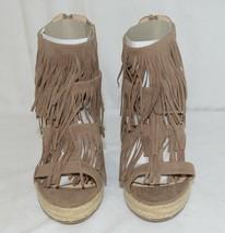 BF Betani Shiloh 8 Stone Fringe Wedge Heel Sandals Size 6 image 2