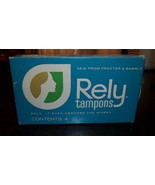 Original UNOPENED Sealed Box RELY TAMPONS Not For Use, Historical Very Old - $28.04