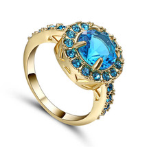 BLUE MULTI GEMS RING   **SIZE 8.0**   >> COMBINED SHIPPING <<   (492 - $5.69