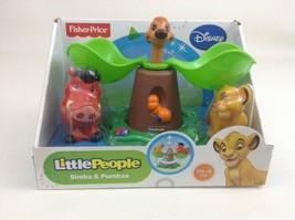 Simba & Pumbaa Fisher Price Little People Disney Movie The Lion King Toy... - $42.52