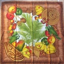 GUCCI Scarf Stole Silk 100% Fruit Apple Banana Interior Women Luxury Aut... - $182.01