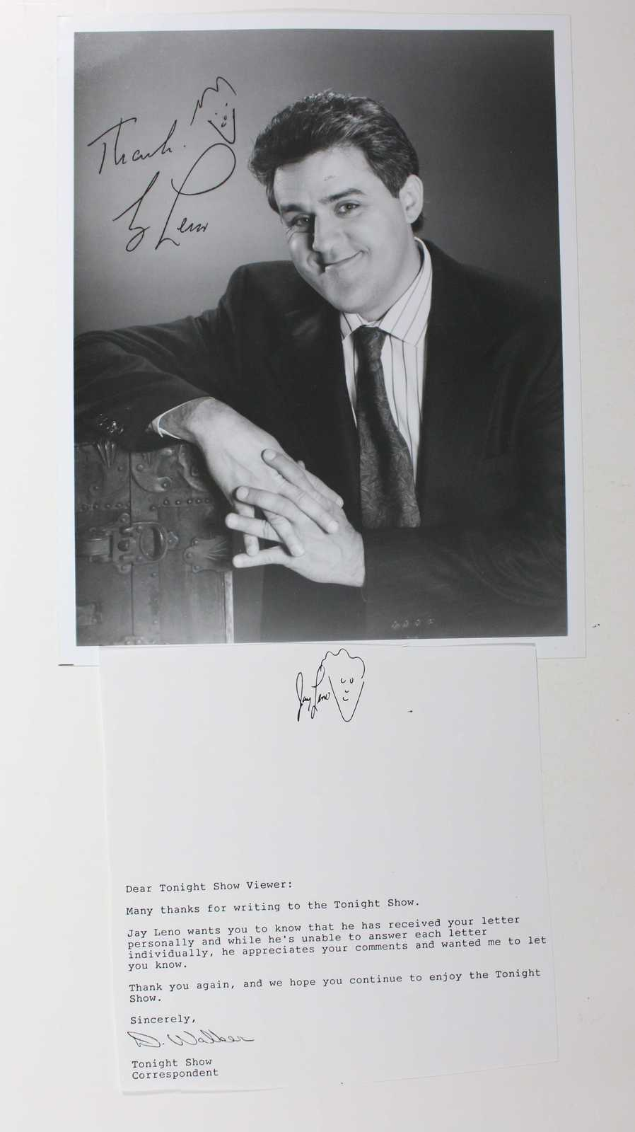 Primary image for Jay Leno Signed Autographed Glossy 8x10 Photo