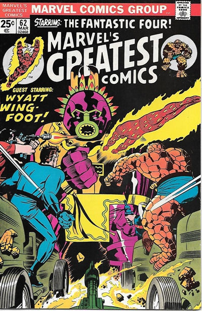Primary image for Marvel's Greatest Comics Comic Book #62 Fantastic Four 1976 FINE+/VERY FINE-