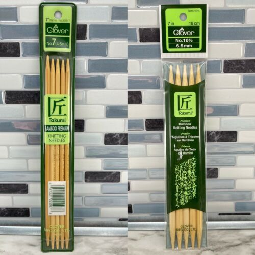 Primary image for 3pc Takumi Bamboo Double Point Knitting Needles: #3015/7, #3015/10.5, #3011/13