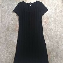 Spense women's Cable Knit Sweater dress Size Medium short sleeves knee length image 4