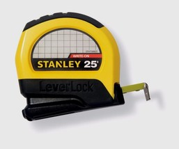 """Stanley LeverLock Tape Rule Measure Measuring Blade Lock 1"""" W x 25' L ST... - $16.82"""