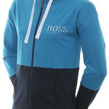 Hugo Boss Men's Athletic Sport TrackSuit Hooded Sweatshirt Jacket & Pants Set image 6