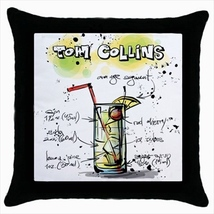 Throw pillow case chill out bar cocktail tom collins - $19.50