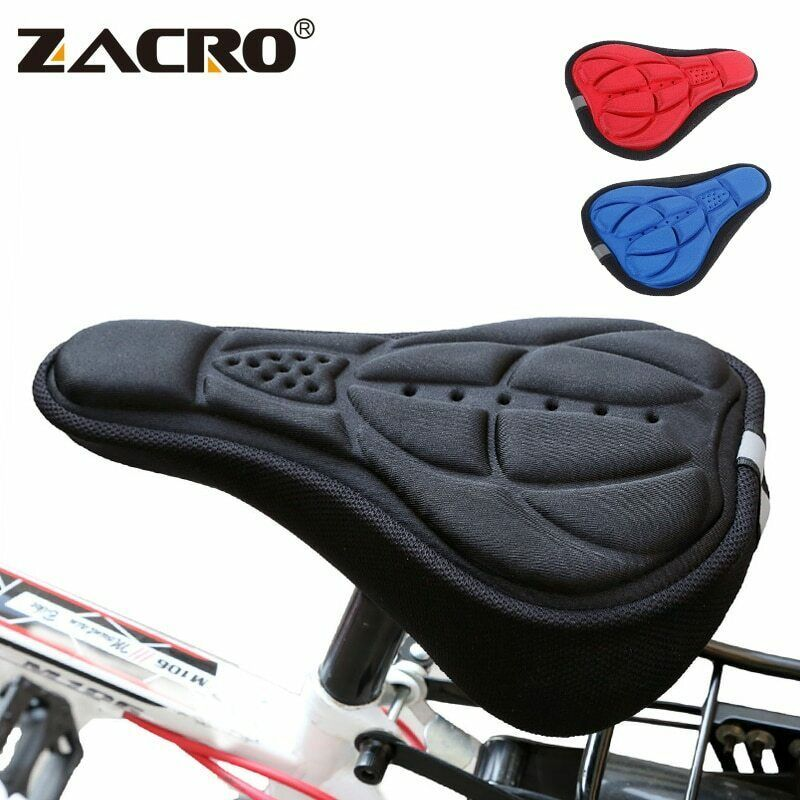 Silicone Gel Extra Soft Bike Bicycle MTB Saddle Cushion Seat Cover Pad Comfort~