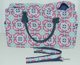 Viv Lou M440VLMIA Mia Tile Travel Bag Lime Green Pink and Navy Blue image 2