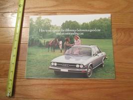audi 100LS 1977 Car auto Dealer showroom Sales Brochure - $9.99