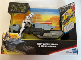 NEW HASBRO STAR WARS THE RISE OF SKYWALKER FIRST ORDER DRIVER & TREADSPE... - $22.72