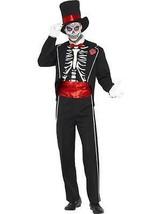 Día de los Muertos Disfraz, Negro, Disfraz Halloween, Pecho 96.5cm-102cm... - $57.78