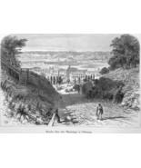 IOWA Dubuque & Mississippi River  - 1883 German Print - $16.20