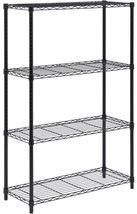 Steel-Shelving-Unit-Black-Garage-Shelf-Storage-Rack-Organizer-Adjustable... - $68.00