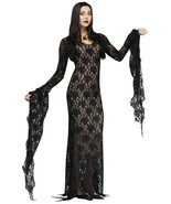 Fun World Addams Family Morticia Addams Darkness Womens Haloween Costume 124044 - $52.99