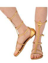 Rubie's Women's Cleopatra Costume Sandals, 8 Gold - $64.24