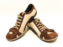 Merrell Pirouette Brown Sneakers Leather & Canvas Comfort Shoes Womens S... - $11.05