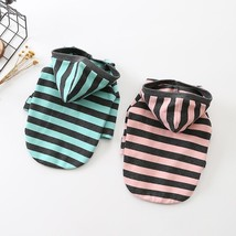Warm Dog Clothes Winter Puppy Outfit Striped Pet Dog Hoodie Cat Pet Clot... - $584,10 MXN