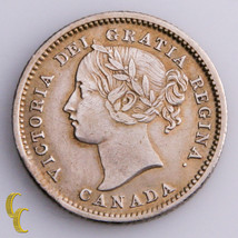 1858 Canada 10 Cents Silver Coin In XF, KM# 3 - $168.30